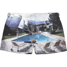 Whippet - The Mid-Length Classic Swim Short - Photographic (Kaufmann Cocktail)