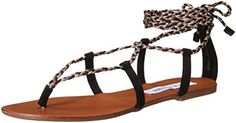 Steve Madden Womens Werkit Flat Sandal BlackMulti 85 M US *** Insider's special review you can't miss. Read more  (This is an amazon affiliate link. I may earn commission from it)