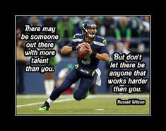 Inspirational Football Quotes, Motivational Wall Art, Wall Art Quotes, Quote Wall, Nfl Quotes, Football Motivation, Motivation Wall, Wilson Seahawks, Seattle Seahawks