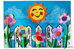 Filter Paper Flowers craft