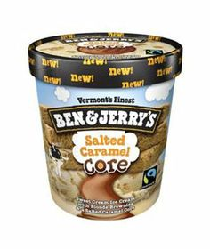 Ben & Jerry's Salted Caramel :  A two-inch thick caramel vein runs through vanilla ice cream and crumbled blondie. Enough swirls and chunks for the whole family.