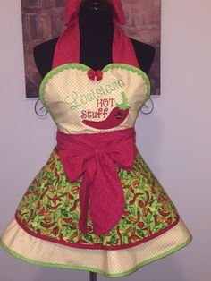 A personal favorite from my Etsy shop https://www.etsy.com/listing/267946017/louisiana-hot-stuff-vintage-apron