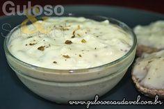 Cream Cheese Caseiro » Patês e Pastas, Receitas Saudáveis » Guloso e Saudável