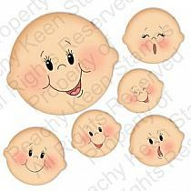 Home of the original clear, peach-tinted, high-quality whimsical face stamps.Basic Paper Doll Face Assortment - Clear Face Stamps for Die Cuts and Digital SVG Cut FilesBy Luiza Alfama: Riscoscute faces to paint on different crafts/or appliques. Baby Faces, Cute Faces, Doll Eyes, Doll Face, Fabric Dolls, Paper Dolls, Peachy Keen Stamps, Cartoon Faces, Paperclay