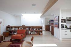 Manzanita Residence by Yamamar Design // that low w i d e bookshelf / room divider