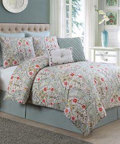 Blue Evangeline Comforter Set