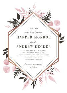 """Shade Garden"" by Robin Ott. Botanical Art Decor Inspired Wedding Invitation available on Minted."