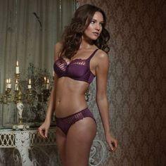 Charnos Sienna Bra and Brief in Purple Passion