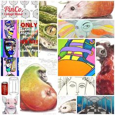 PinCo collage. Drawing board cover