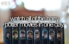 Harry Potter movies in one day? I think yes!