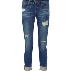 Frame Denim Le Garcon distressed slim boyfriend jeans found on Polyvore