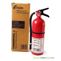 Heavy Duty Plus Fire Extinguisher, fire extinguisher, UL rated Phosphate Extinguishing, Tri-Class, Dry Chemical Fire Extinguishers Home Safety Tips, Fire Safety, Fire Extinguisher, Get One, Tools, Instruments