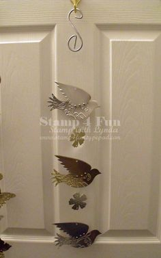 Wind Chimes - Stampin' Up! Style...made from aluminum flashing  www/stamp4fun.typepad.com