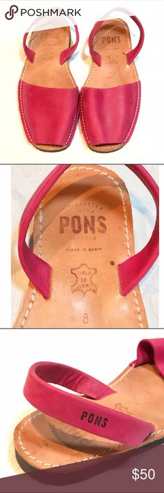 Avarca PONS Sz. 8 The classic Avarca PONS in a beautiful, rich pink. Sz. 8. Made in Dpain. Rubber soles with great traction. Worn, but still in really good condition with lots of life left in them. Perfect for spring and summer coming up!☀️ Shoes Sandals