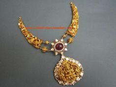 temple jewellery gold choker