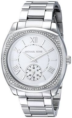 Michael Kors Womens MK6133 Bryn SilverTone Stainless Steel Watch -- You can find out more details at the link of the image.