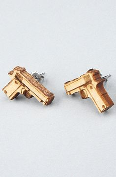 The Baretta Stud Earrings in Natural by GoodWood
