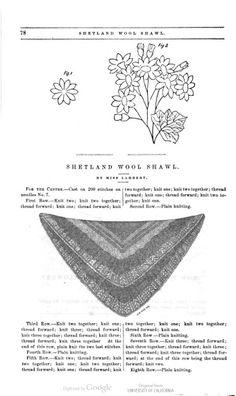 page 78 Shetland Wool Shawl Peterson's Magazine Jan 1858