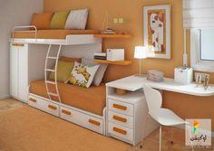 تصميمات وافكار لغرف اطفال للمساحات الضيقة