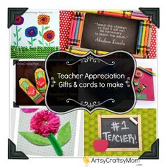 Last Minute Teachers Day Cards & gifts to make