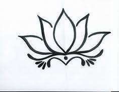 Resultado de imagen para flor de loto dibujo