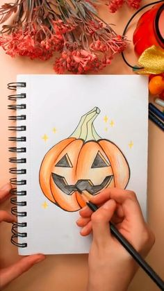Pumpkin Art, Color Pencil Art, Yet To Come, Spirit Halloween, Halloween Pumpkins, Ghosts, Cute Drawings, Colored Pencils, Witches