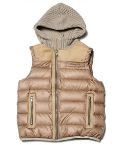 undercover down leather vest