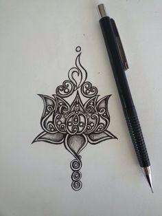 Lotus tattoo design With NEDA symbol Tattoo L, Hamsa Tattoo, Piercing Tattoo, Tattoo Drawings, Sternum Tattoo, Unalome Tattoo, Tattoo Neck, Tattoo Flash, Design Lotus