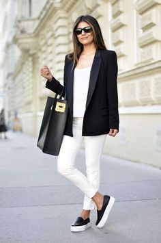 black and white outfits. elegant.