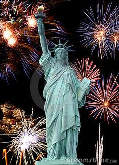 Photo about The Statue of Liberty and July Firework in New York City. Image of history, beauty, attraction - 4782164 And July, Happy 4 Of July, 4th Of July Fireworks, Fourth Of July, Fireworks Cake, New York Noel, San Bernardino Mountains, New York Theme, I Love Ny