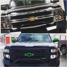 Dip your grille, emblem, mirrors and more! Check out Diphead Caitty's before and after shots of her Chevy. We're partial to the after shot.