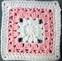 Julias's flower, 6-inch granny square #crochet #granny_square #flower by shelby