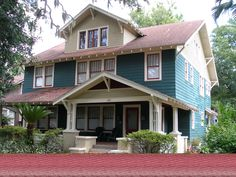 White house black trim windows exteriors pinterest for Craftsman homes for sale in florida