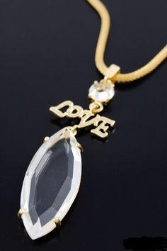 Oversized pendant necklace.  $16.00