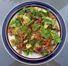 Medifast Lean and Green turkey taco meat salad. I'm coach NatalieJo  http://www.nataliejo.tsfl.com.