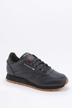 Reebok Classic Black Leather Gumsole Trainers