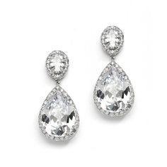 'Arabella' Cubic Zirconia Event Earrings  - Item No: 2074E-S