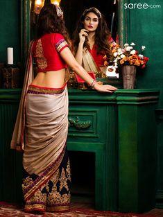 Bollywood Saree Party Ethnic Wedding Indian Pakistani Designer Sari With Blouse Beautiful Girl Indian, Most Beautiful Indian Actress, Beautiful Saree, Beautiful Women, Sari Design, Indian Photoshoot, Saree Photoshoot, Look Fashion, Indian Fashion