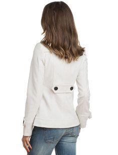 Γυναικείο παλτό BFC Casual - άσπρο