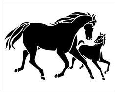 Horses stencil from The Stencil Library BUDGET STENCILS range. Buy stencils online. Stencil code SS61.
