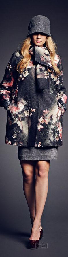 I'm so into the florals on black this fall.........Rachele Collections Fall Winter 2014-15