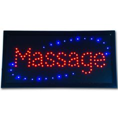 """Bright Animated LED Massage Masseuse Masseur SPA Open Sign 19x10"""" Display neon #AhhaProducts"""