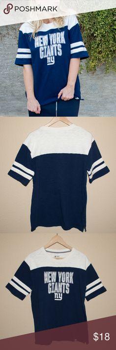 New York Giants NFL Pro Line Fanatics Shirt New York Giants NFL Pro Line  Fanatics Blue and White Shirt Nice thick cotton material Sz  L Material   cotton ... a9b4e8920