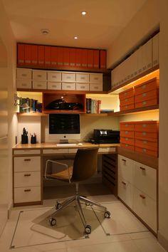 Home Office Lighting Design by John Cullen Lighting Home Office Lighting, Study Space, Lighting Design, Kitchen Cabinets, Loft, Interior Design, House, Inspiration, Furniture