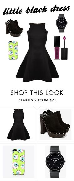 """Shinley - Little Black Dress Contest"" by kentigerna on Polyvore featuring moda, Ted Baker, Nasty Gal, The Small Print., The Horse e Smashbox"