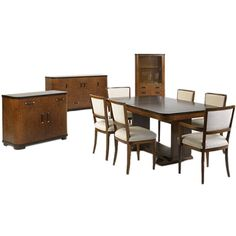 Extremely Rare Complete Dining Suite by Donald Deskey | From a unique collection of antique and modern dining room sets at http://www.1stdibs.com/furniture/tables/dining-room-sets/