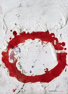 """Yoshihara Jiro, 'Circle', circa 1961-1963. Gutai. No movement was more primal than Gutai (which translates as """"concreteness""""), for no other culture on earth had been incinerated by the nuclear bomb. Rising phoenix-like from the ashes of Allied occupation, they upended convention through remarkable developments in painting, performance, installation, experimental film, and sound, kinetic, light, and environmental art"""