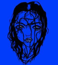 #Arte #Azul #Negro #Dibujo #Digital #creación #Venezuela #contemporaneo