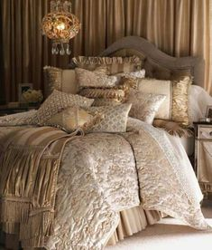 Elegant Luxury Bedding Sets Pictures 2 - Home Interior Design Ideas Dream Bedroom, Home Bedroom, Bedroom Decor, Master Bedroom, Master Suite, Bedroom Sets, Shabby Bedroom, Shabby Cottage, Blush Bedroom