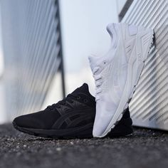Black or White  The  AsicsTigerHQ Gel-Kayano EVO Trainer. Available in men s b08aa1dbd456